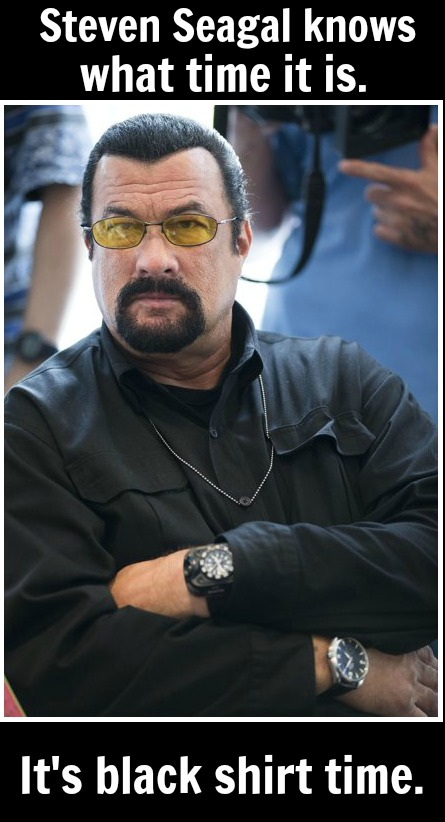 Steven Seagal - black shirt