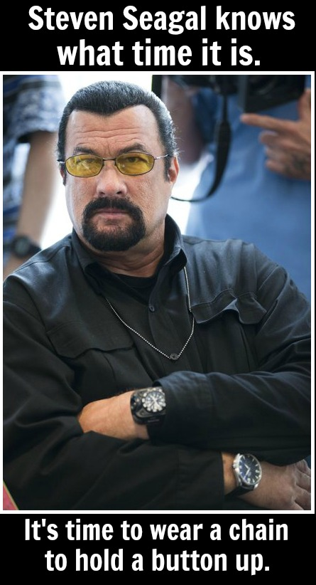 Steven Seagal - button