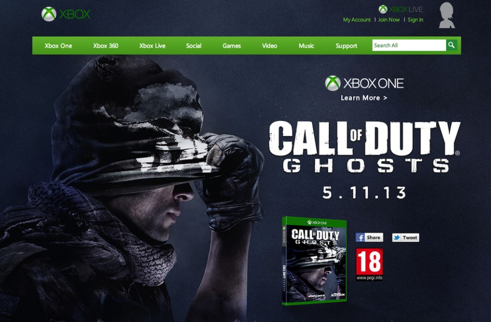 Call of Duty: Ghosts Ad Suggests Xbox One Will Release Before November 5